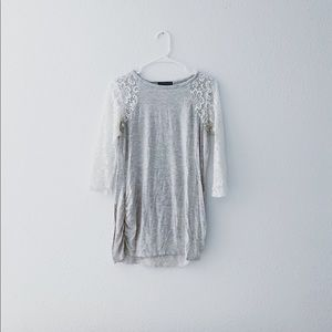 Lace Sleeves Maternity top